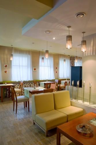 Dizajn reštaurácie Média cafe v Nitre.