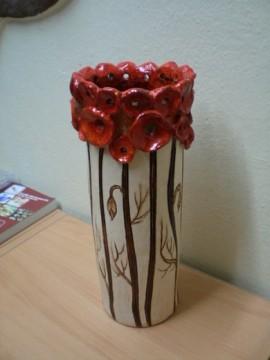 Vlčie maky - váza