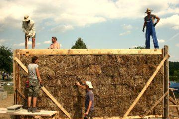 M3: Slamené stavanie, metóda: nosná @ ekocentrum ArTUR | Hrubý Šúr | Slovensko