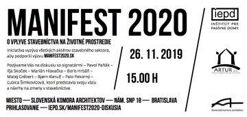 Diskusia so signatármi Manifestu 2020 @ budova Slovenskej sporiteľne, 2. poschodie