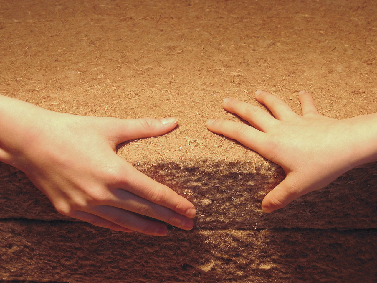 drevovlákno s rukami